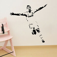 Football Sportsman Ronaldo Figures Decal Wall Sticker Boys Bedroom Decor Mural
