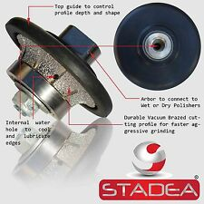 "DIAMOND PROFILE WHEEL 3/8"" 10MM Demi B10 bit for Grinder Concrete Granite Marble"