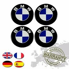 "BMW *** WHEEL CENTER CAP STICKERS 3D DECALS EMBLEM *** 4 x 70mm (2 3/4"")"