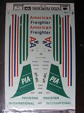 1/144 MICRO SCALE DECAL N°21 BOEING 707 AMERICAN FREIGHTAIR / PAKISTAN PIA
