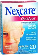 Nexcare Opticlude Orthoptic Eye Patches Regular 20 Each (Pack of 5)