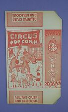 Original c1930's Unused Circus Popcorn Box -  Elephants, Acrobat / Trapeeze