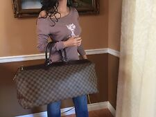 Auth Louis Vuitton Damier Ebene Greenwich Tralve Carry-on Bag