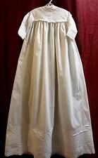 Vintage/Antique baby dress christening long white gown lace doll