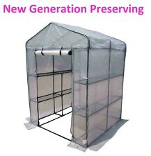 Large 3-Tier Walk In Greenhouse with Powder Coated Steel Frame Free HDuty Cover!