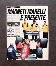 [GCG] I153- Advertising Pubblicità -1985-MAGNETI MARELLI E' PRESENTE IN FORMULA1