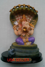 HINDU LORD GOD GANESH GANESHA, SHESHNAG MUSHIKA STATUE NEW indian  Ship From USA