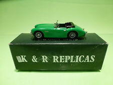 K & R REPLICAS SMTS AUSTIN HEALEY 3000 MK1  - 1:43  - IN BOX  - GOOD CONDITION