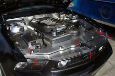 2011-2014 Ford Mustang GT Perforated Brushed Stainless Steel Header Plate Cover
