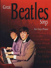 Gran canciones de los Beatles para fácil piano Partituras Libro Yellow Submarine Penny Lane