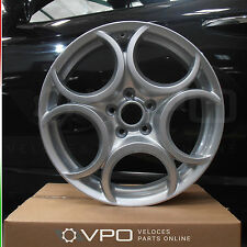 "ALFA ROMEO 18"" INCH SILVER ALLOY WHEEL FOR 159 BRERA SPIDER GIULIETTA 50903124"