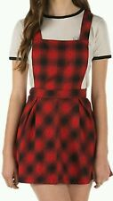 "VANS women's Large ""Cheap Talk Skirt-All"" red black plaid rock skate skirt dress"