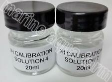 Ph 4 & 7 solution d'étalonnage 20ml x 2, ph sonde marine aquarium reef coral