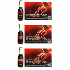 3 HyperGH 14x 360 Pills 3 Alpha GPC Oral Spray LEAN ROCK HARD MUSCLE Better SEX