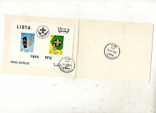 LIBIA  LIBYA FIRST DAY COVER  SCOUTS   PROMISE  CAMP  1964