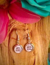 Harry Potter Up To No Good Quote Cute Dangle Drop Earrings 10mm.