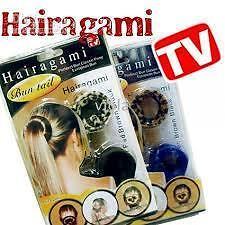 Hairagami Hair Bun Fold Wrap & Snap Styling Tool Hair Accessories Hair Band Clip