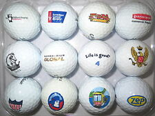 (12) MIXED LOGO GOLF BALLS ( AMERICAN CANCER SOCIETY, LG, BOMBARDIER )  B#253