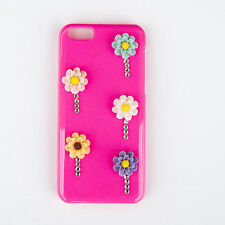 Apple iPhone 5c 3D Cerise & Multi Colour Daisy Mobile Phone Crystal Case/Cover