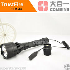 TrustFire 1600Lm CREE XM-L T6 LED Flashlight Torch Remote Pressure Switch 1 Mode
