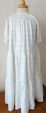 Vintage Broderie Anglaise Baby's Christening Gown/Robe Boy's Girl's One Size