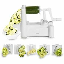 Spiralizer 5-Blade Vegetable Slicer, Strongest-and-Heaviest Duty, Best Veggie &