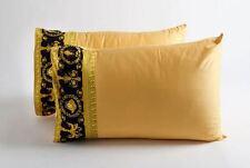VERSACE Barocco & Robe Medusa Queen Size Pillow Case Set 2 pieces Black Gold