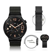 New For Huawei Watch W1 Magnetic Milanese Stainless Steel Watch Band Strap Black