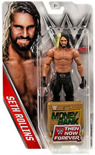 WWE SETH ROLLINS THEN NOW FOREVER EXCLUSIVE FIGURE MITB SUITCASE 2016 NEW