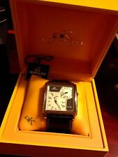 ADEE KAYE DUAL TIME WATCH with Box and Papers mens