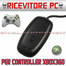 ★ XBOX 360-PC KIT RICEVITORE WIRELESS WIFI X CONTROLLER JOYPAD MICROSOFT WINDOWS