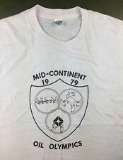 True Vintage 1979 Mid-Continent Oil Olympics Graphic Pink T-Shirt XL