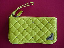 New ROXY Wristlet CLUTCH WALLET Handbag Bag Faux Leather VEGAN Canary Yellow $36
