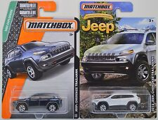 2016 Matchbox: 2014 JEEP CHEROKEE TRAILHAWK Walmart 75th White & Blue  2 Car LOT