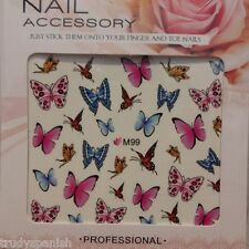 Nail Art Water Decals Transfers Butterfly Butterflies UV Tips Decoration (M99)