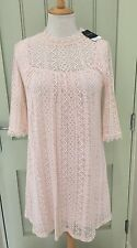 Topshop Pink Lace Lined Dress BNWT 8