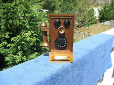 Vintage Novelty Antique Wooden Telephone Music Box