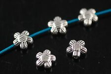50Pcs Charms Tibetan Silver Crafts Jewelery Finding Spacer Flower Beads 7mm