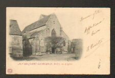 AUVERS-SAINT-GEORGES (91) VILLA & EGLISE , en 1903