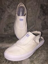 KEDS Womens Size 5.5 Cream Canvas Sling Back Shoes Casual Great Condition