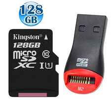 KINGSTON 80MB/s* CLASS10 microSDXC 128GB 128G micro SDXC micro SD Memory Card +