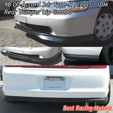 TR Style Front (PP) + OE Style Rear (PU) Fits 98-00 Honda Accord 2dr