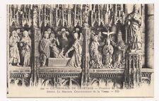 cathédrale de chartres  poutour du choeur  le sépulcre,couronnement de la vierge