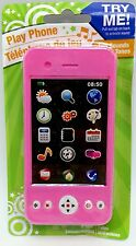 Play Phone with Rings and fun sounds Battery tag not pulled Pink  New ages 4+