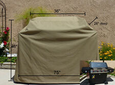 """Outdoor Patio Yard Garden BBQ  Barbecue Grill Cover 75""""L.Taupe.Outdoor Furniture"""