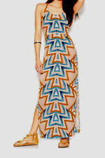 FREE PEOPLE  / 'Serves You Right' Printed Maxi  Mint Tribal Dress Sz 6 New $168