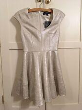Top shop Brocade Skater Dress Size 8 Petite
