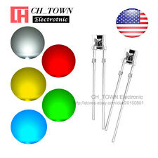 5 Lights 100pcs 5mm LED Diodes Flat Top White Red Green Blue Yellow Mix Kits