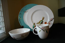 LENOX CHIRP SIMPLY FINE 4 PC PLACE SETTING M&D SAFE CHIP RESIST USA NWT MINT!