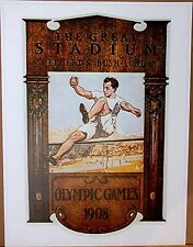 "Olympic Poster 31.5""x 23.25"" (80 x 59cm) LARGE format reproduction 1908 London"